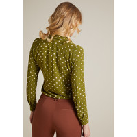 King Louie - daisy blouse pablo - olive green