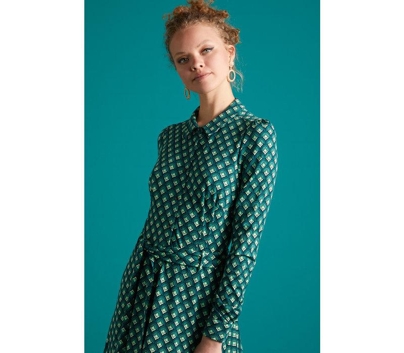 King Louie - sheeva dress pose - dragonfly green