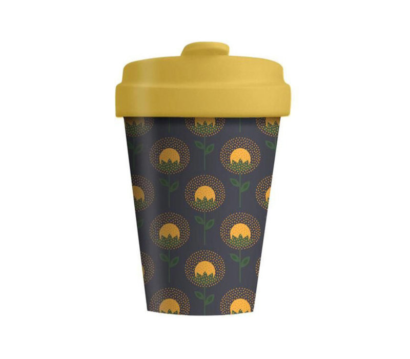 Chic mic - bamboo cup - sunflowers