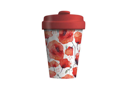Chic mic Chic mic - bamboo cup - poppy flowers