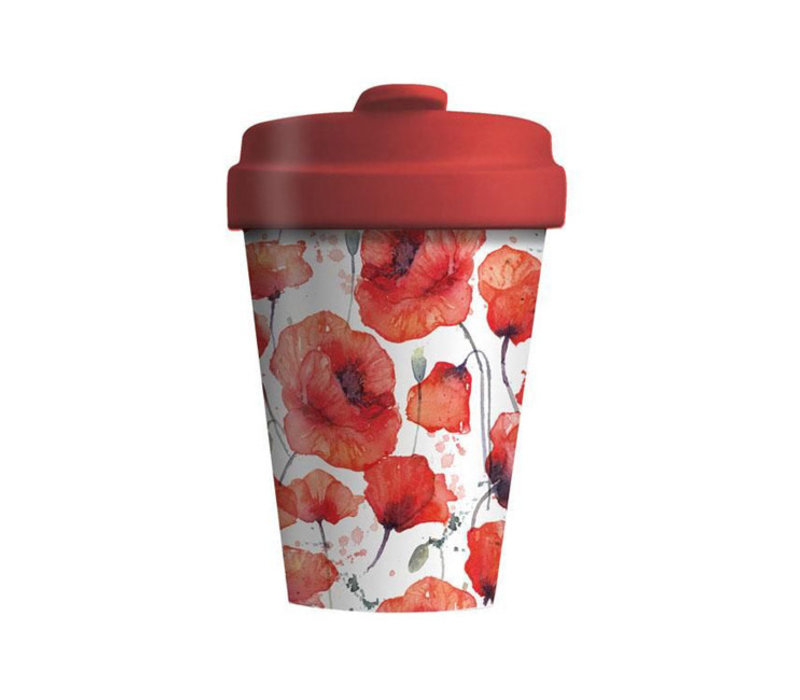Chic mic - bamboo cup - poppy flowers