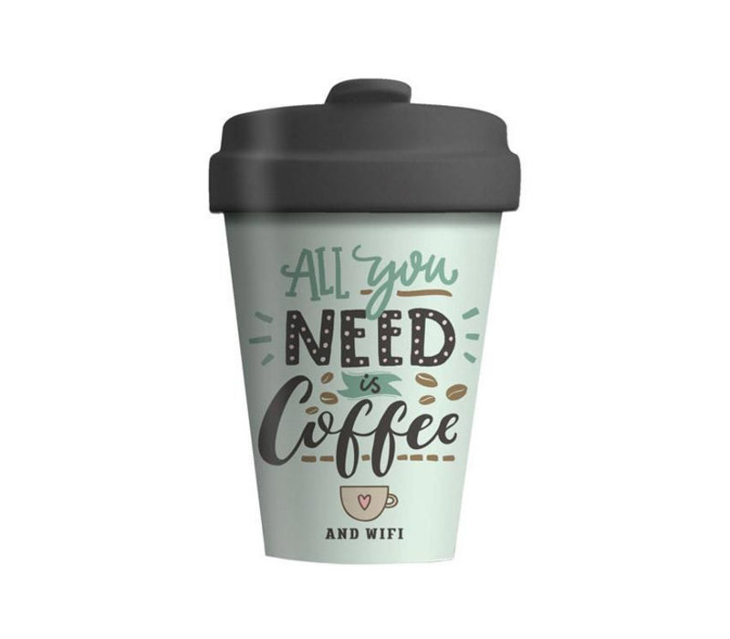 Chic mic - bamboo cup - all you need is coffee