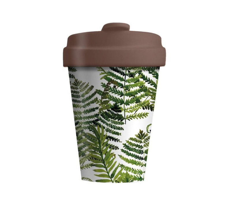 Chic mic - bamboo cup - green leaves