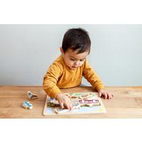Noox city kids - houten puzzel - stad