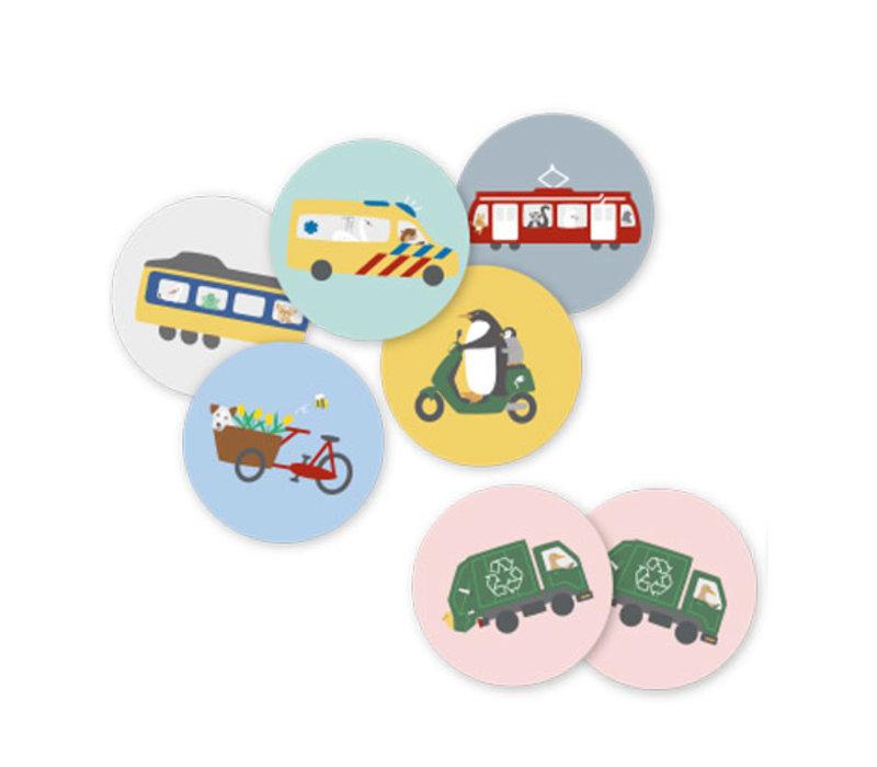 Noox city kids - memory - voertuigen