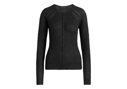 King Louie King Louie - cardi roundneck fluffy - black