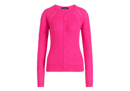King Louie King Louie - cardi roundneck fluffy - neon pink