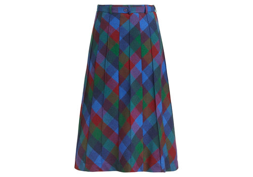 King Louie King Louie - harper skirt cornel check - dutch blue