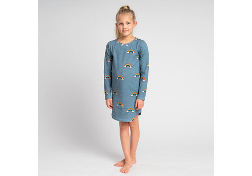 Snurk Snurk - long sleeve dress kids - clay rainbow