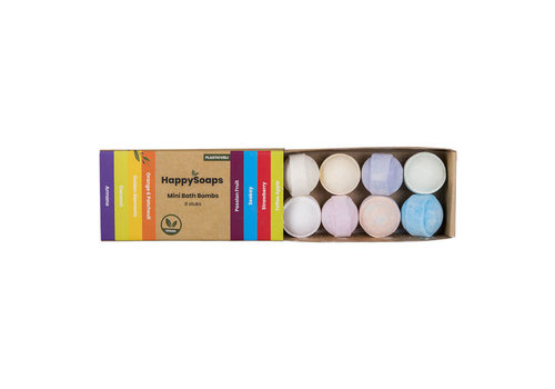 HappySoaps Happysoaps - mini bath bombs - tropical fruits