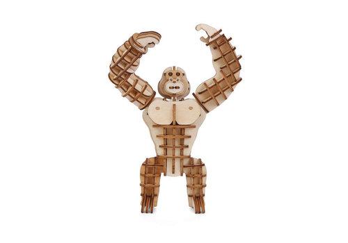 Kikkerland Kikkerland - 3d houten puzzel - gorilla