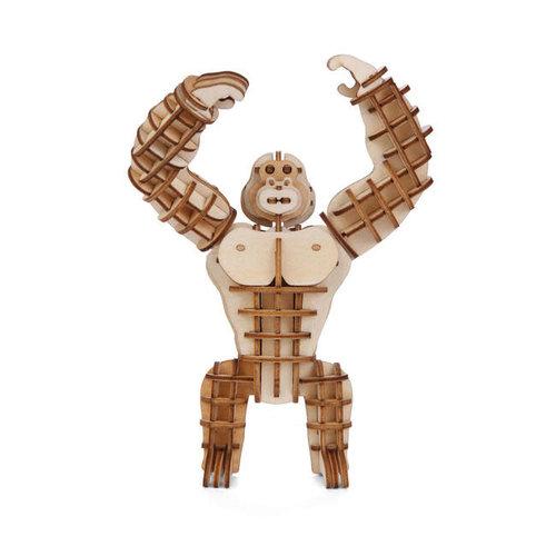 Kikkerland - 3d houten puzzel - gorilla