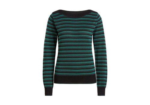 King Louie King Louie - audrey top dazzle stripe - black
