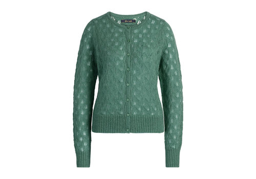 King Louie King Louie - cardi roundneck vallina - fir green
