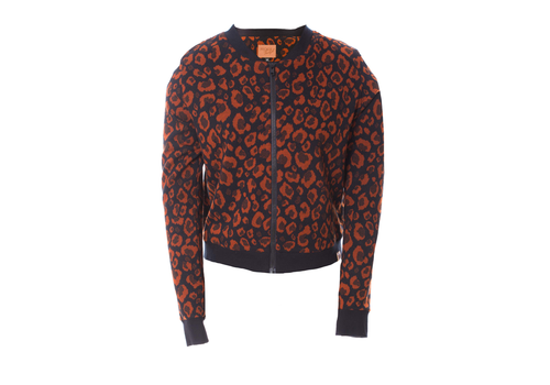 Mooi Vrolijk Mooi vrolijk - bomberjacket - animal print rust brown