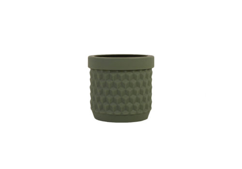 Living by Colors Living by colors - silicone bloempot potts - olive green