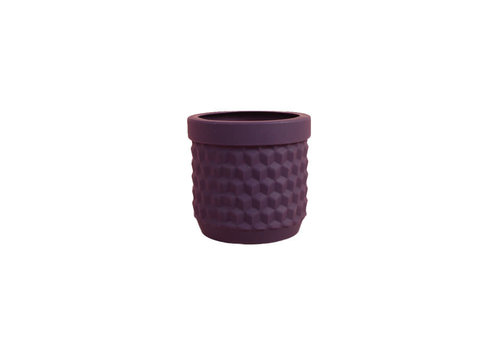 Living by Colors Living by colors - silicone bloempot potts - deep purple