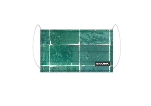 Snurk Snurk - mondkapje - tiles emerald green