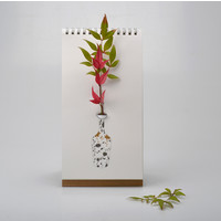 Luf Design - flip vase - gold