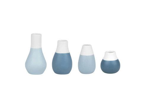 Räder Rader - mini-vaas - pastel blauw (set van 4)