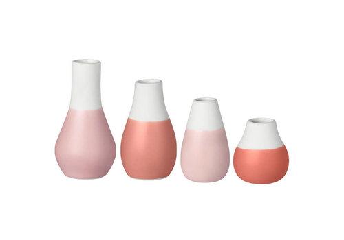 Räder Rader - mini-vaas - pastel rood (set van 4)