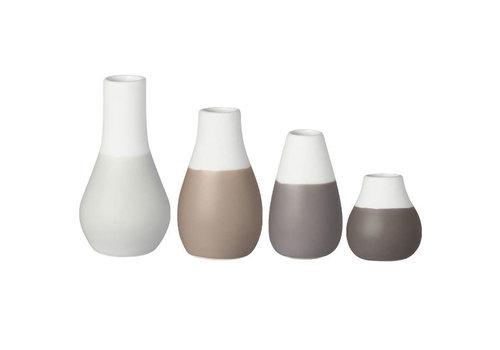 Räder Rader - mini-vaas - pastel grijs (set van 4)