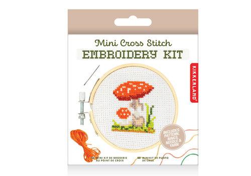 Kikkerland Kikkerland - borduur kit - mushroom