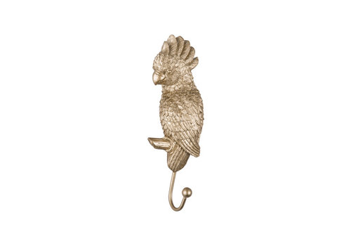 Present time Present time - coat hook gold - cockatoo