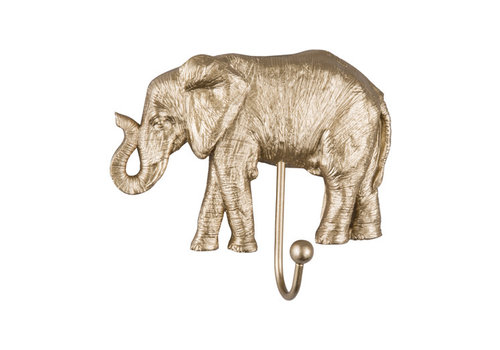 Present time Present time - coat hook gold - elephant