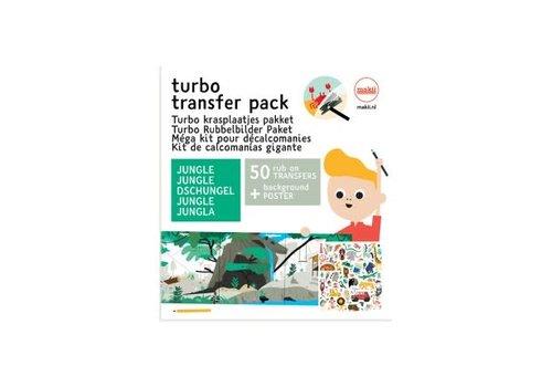 Makii Makii - turbo krasplaatjes pakket - jungle