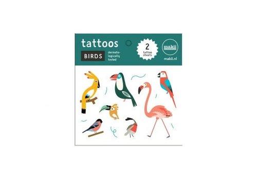 Makii Makii - tattoo - vogels