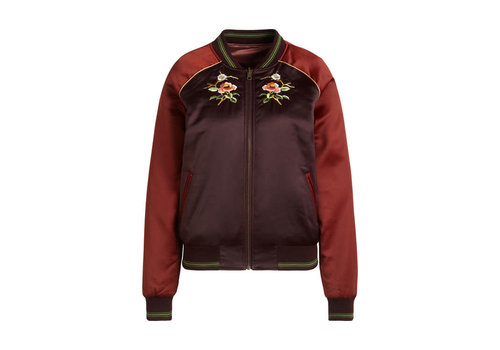 King Louie King Louie - reversible bomber jacket cherrybird - grape red