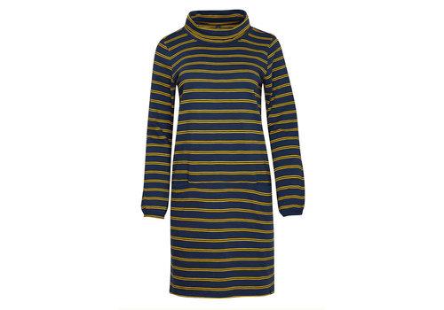 Tranquillo Tranquillo - jurk oliv - pine stripes