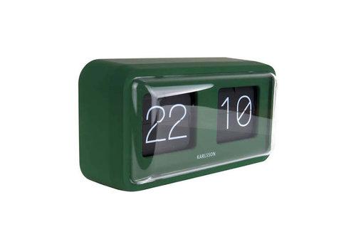 Karlsson Karlsson - table clock bold flip - matt green