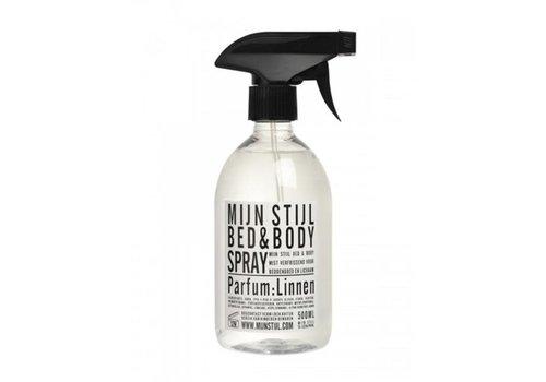 Mijn stijl Mijn stijl - bed & bodyspray - linnen wit/zwart etiket