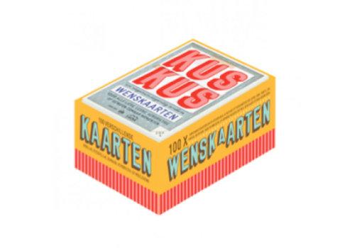Snor Snor - kus kus 100 kaartenbox