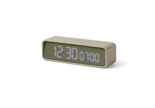 Lexon Lexon - wekker oslo time - grijs/groen