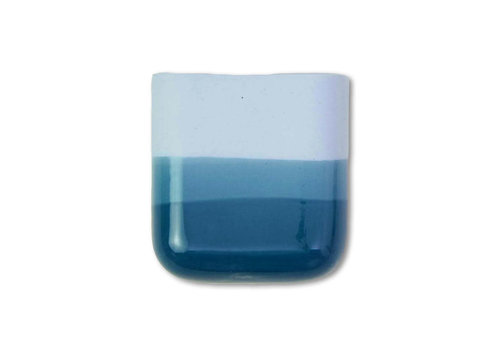 Studio Harm en Elke Studio Harm en Elke - dip wall vase short - blue 065