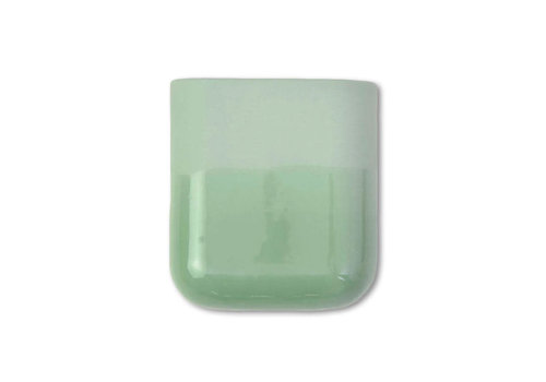 Studio Harm en Elke Studio Harm en Elke - dip wall vase short - green 071