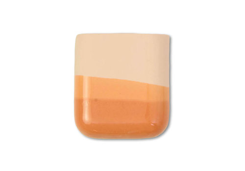 Studio Harm en Elke Studio Harm en Elke - dip wall vase short - orange 054