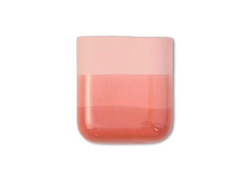 Studio Harm en Elke Studio Harm en Elke - dip wall vase short - red 059