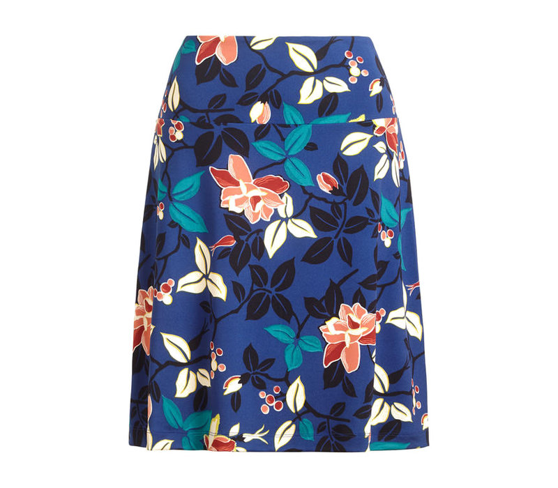King Louie - border skirt kyoto - tokyo blue