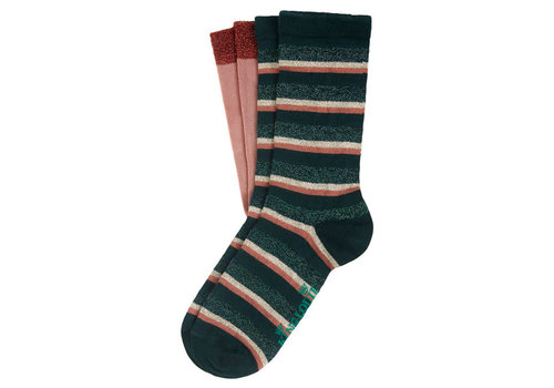 King Louie King Louie - socks 2-pack dashi stripe - pine green
