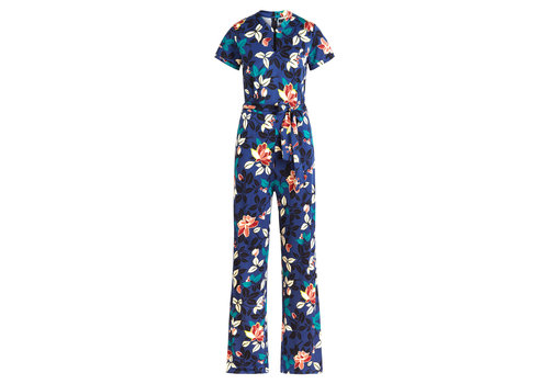 King Louie King Louie - chinese jumpsuit kyoto - tokyo blue