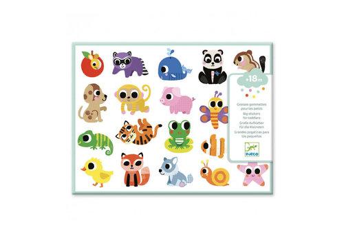 Djeco Djeco - grote stickers - babydieren
