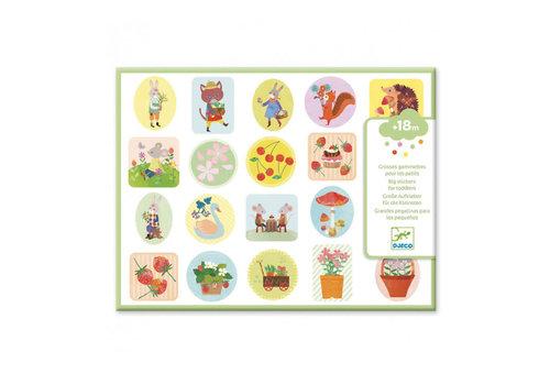 Djeco Djeco - grote stickers - de tuin