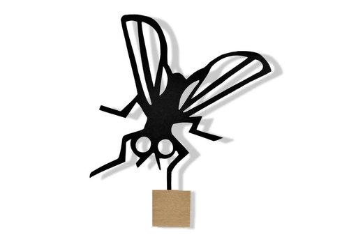 Ei Amsterdam ei amsterdam - muurklevertje vlieg - zwart