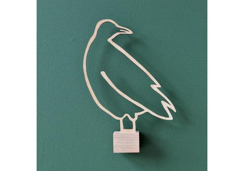 Ei Amsterdam ei amsterdam - muurklevertje duif - hout