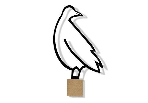 Ei Amsterdam ei amsterdam - muurklevertje duif - zwart