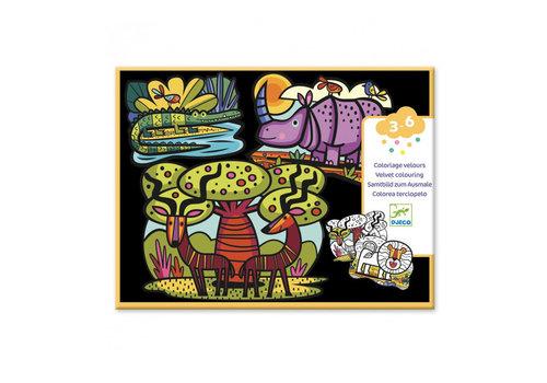 Djeco Djeco - velvet kleurplaten - animals of the savannah